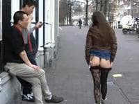 sex in het openbaar op straat